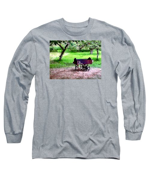 Antique Wheelbarrow Long Sleeve T-Shirt by Sadie Reneau