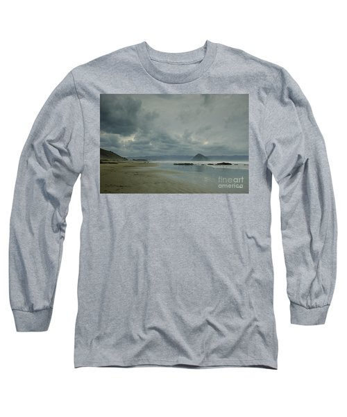Approaching Storm - Morro Rock Long Sleeve T-Shirt