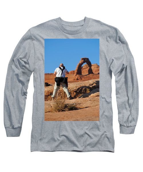 Long Sleeve T-Shirt featuring the photograph Arches Np 27 by Jeff Brunton