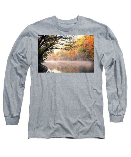 Long Sleeve T-Shirt featuring the photograph Arching Tree On The Current River by Marty Koch