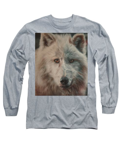 Arctic Wolf Long Sleeve T-Shirt by Cherise Foster