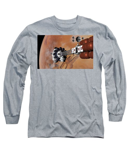Ares1 Captured Over Valles Marineris Long Sleeve T-Shirt by David Robinson
