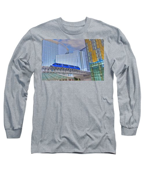Aria Las Vegas Nevada Hotel And Casino Tram  Long Sleeve T-Shirt