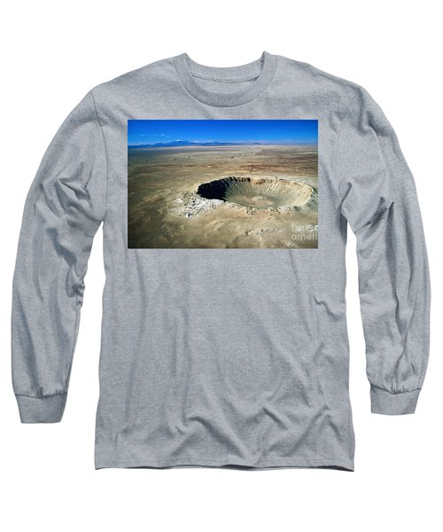 Arizona Meteor Crater Long Sleeve T-Shirt by Pg Reproductions