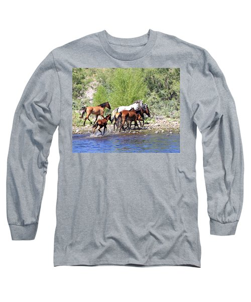 Arizona Wild Horse Family Long Sleeve T-Shirt