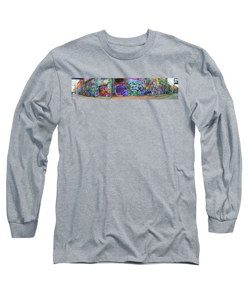 Art Alley Panorama Long Sleeve T-Shirt