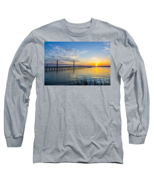 Calm Waters Over Charleston Sc Long Sleeve T-Shirt by Dale Powell