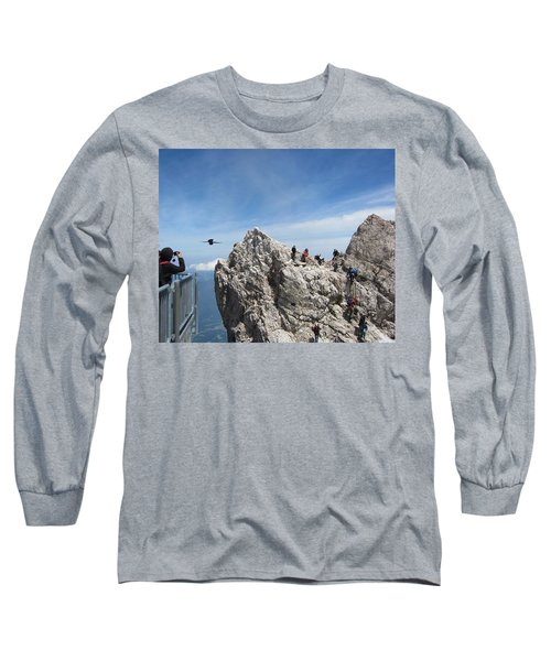 Long Sleeve T-Shirt featuring the photograph As The Crow Flies 1 by Pema Hou