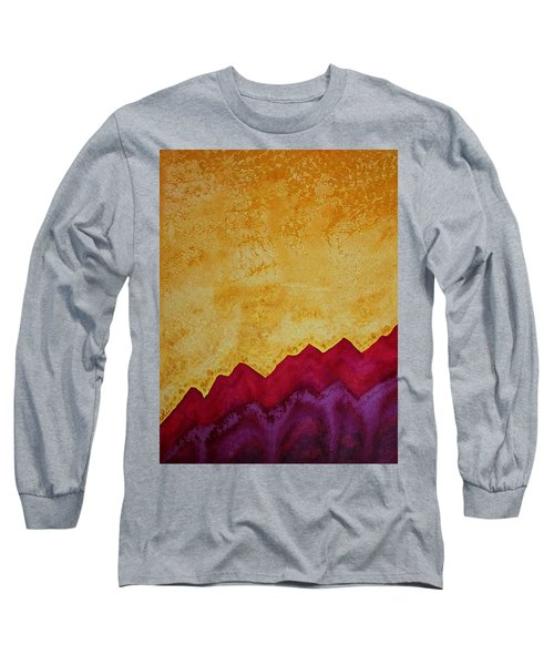 Ascension Original Painting Long Sleeve T-Shirt by Sol Luckman