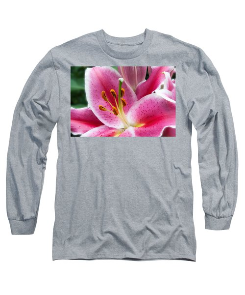 Asian Lily Long Sleeve T-Shirt by Michael Porchik