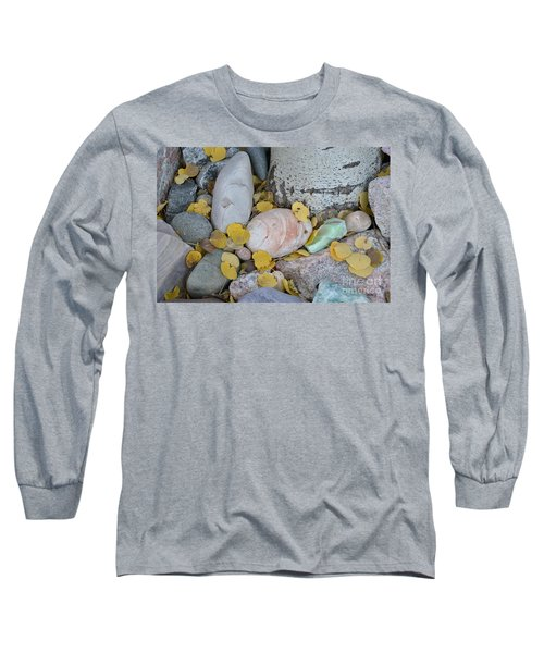 Aspen Leaves On The Rocks Long Sleeve T-Shirt
