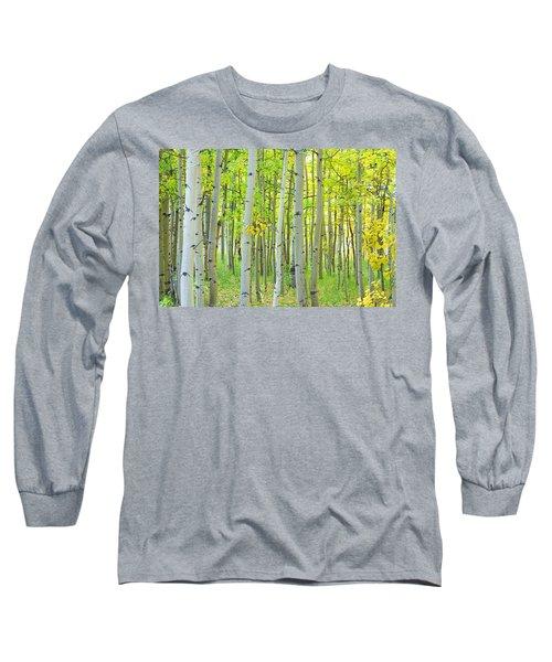 Aspen Tree Forest Autumn Time  Long Sleeve T-Shirt