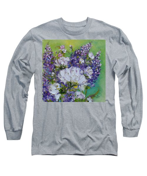Long Sleeve T-Shirt featuring the painting At Peg's Request by Judith Rhue