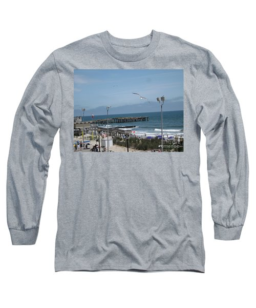 Long Sleeve T-Shirt featuring the photograph Atlantic City 2009 by HEVi FineArt