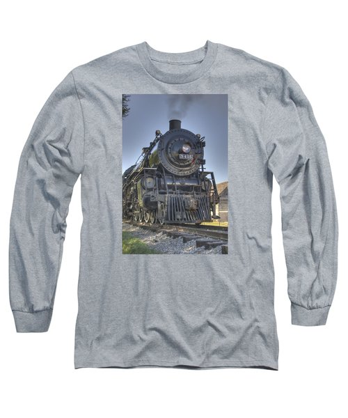 Atsf 3415 Head On Long Sleeve T-Shirt by Shelly Gunderson