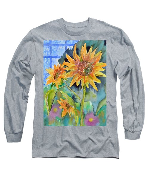 Attack Of The Killer Sunflowers Long Sleeve T-Shirt
