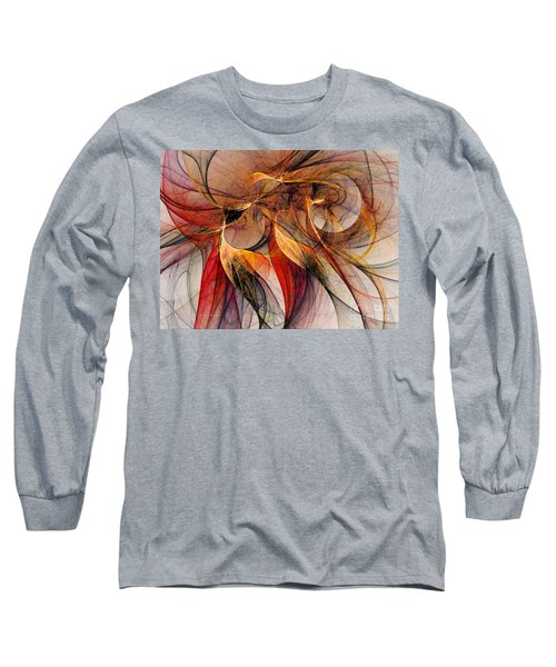 Attempt To Escape-abstract Art Long Sleeve T-Shirt