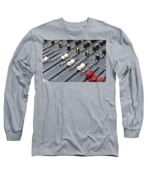 Long Sleeve T-Shirt featuring the photograph Audio Mixing Board Console by Gunter Nezhoda