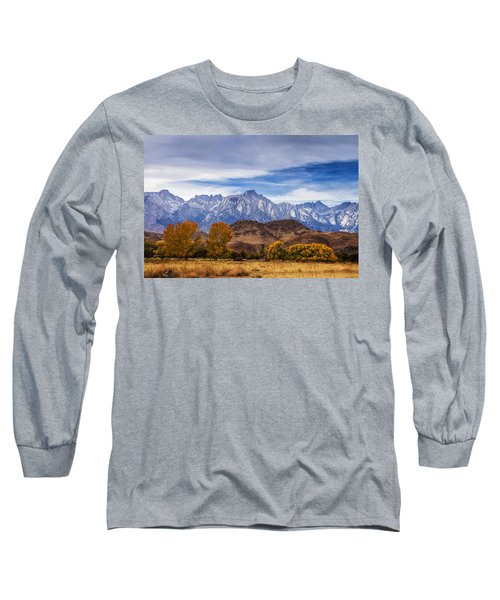 Long Sleeve T-Shirt featuring the photograph Autumn Colors And Mount Whitney by Andrew Soundarajan