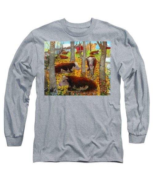 Autumn Cows Long Sleeve T-Shirt