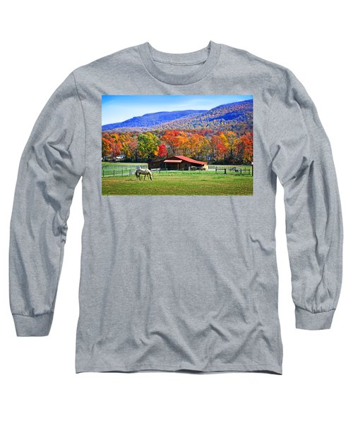 Autumn In Rural Virginia  Long Sleeve T-Shirt