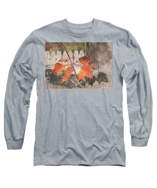 Autumn Leaves On Belmont St Long Sleeve T-Shirt