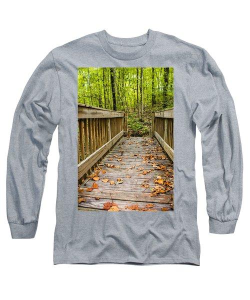 Autumn On The Bridge Long Sleeve T-Shirt