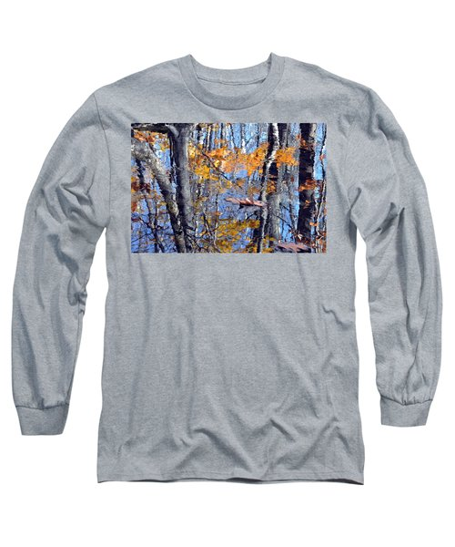 Autumn Reflection With Leaf Long Sleeve T-Shirt