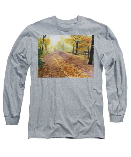 Autumn Sunday Morning Long Sleeve T-Shirt by Martin Howard