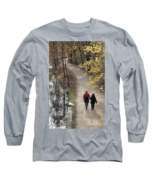 Autumn Walk On The C And O Canal Towpath Long Sleeve T-Shirt
