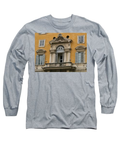 Long Sleeve T-Shirt featuring the photograph Awaiting The Pope by Robin Maria Pedrero
