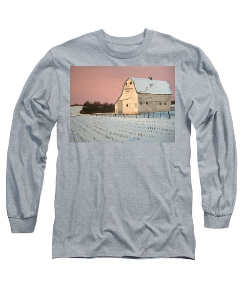 Award-winning Original Acrylic Painting - Nebraska Barn Long Sleeve T-Shirt