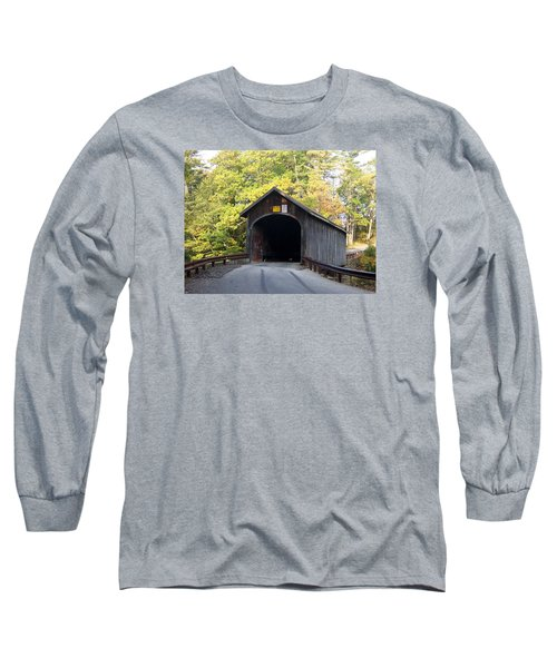 Babbs Covered Bridge Long Sleeve T-Shirt by Catherine Gagne
