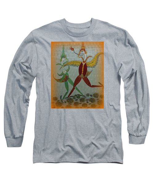 Babe Let's Tango Long Sleeve T-Shirt by Marie Schwarzer