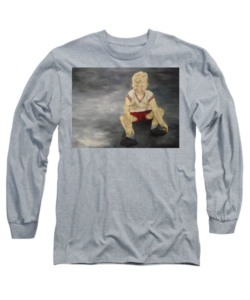 Long Sleeve T-Shirt featuring the painting Baby Bill  by Mary Ellen Anderson