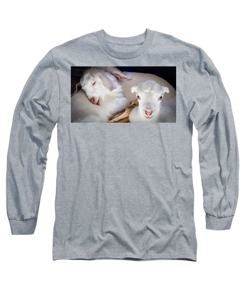 Baby Goats Napping Long Sleeve T-Shirt