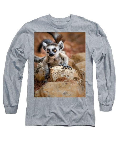 Baby Ringtail Lemur Long Sleeve T-Shirt