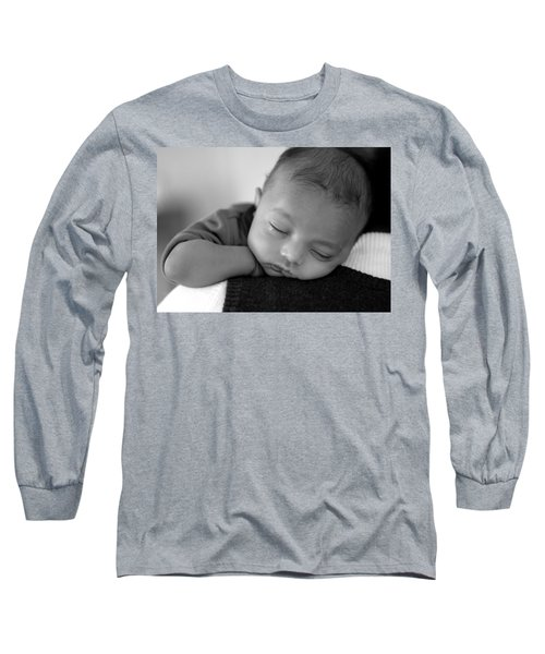 Baby Sleeps Long Sleeve T-Shirt by Lisa Phillips