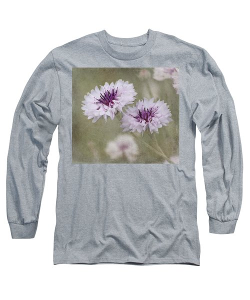 Bachelor Buttons - Flowers Long Sleeve T-Shirt
