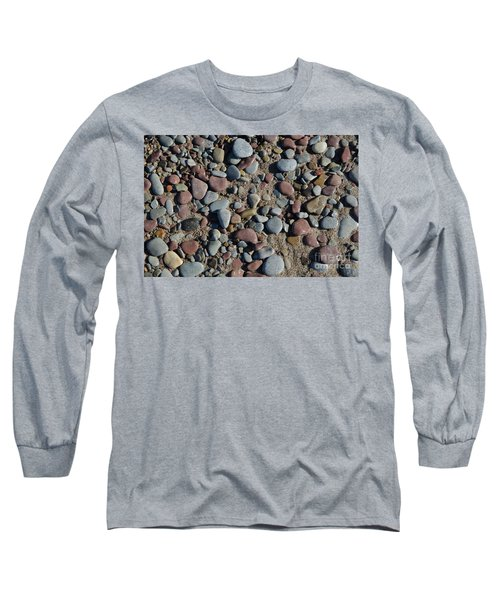 Long Sleeve T-Shirt featuring the photograph Background Of Wet Pebbles And Sand by Kennerth and Birgitta Kullman