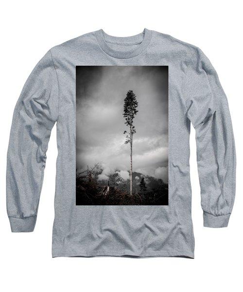 Lone Tree Landscape  Long Sleeve T-Shirt