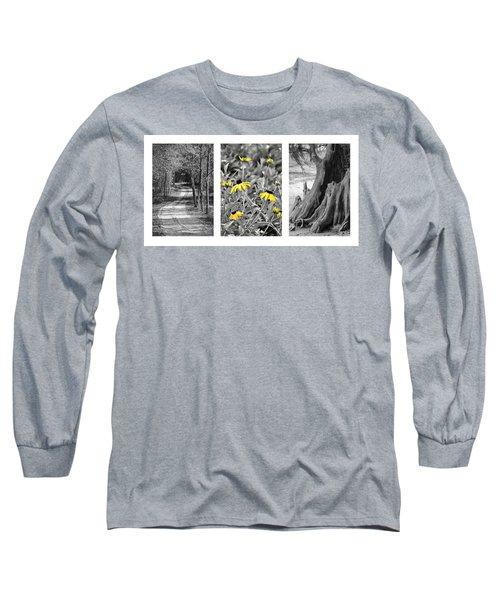 Backwoods Escape Triptych Long Sleeve T-Shirt