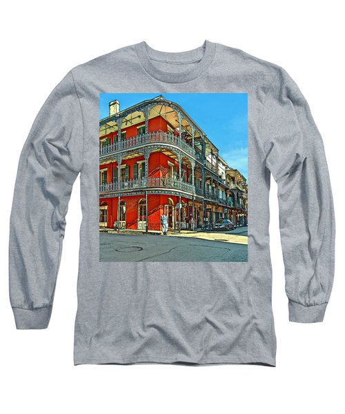 Balconies Painted Long Sleeve T-Shirt by Steve Harrington