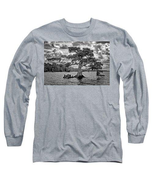 Bald Cypress - Bw Long Sleeve T-Shirt