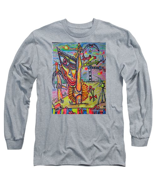 Long Sleeve T-Shirt featuring the painting Ballet/sketch/ by Viktor Lazarev