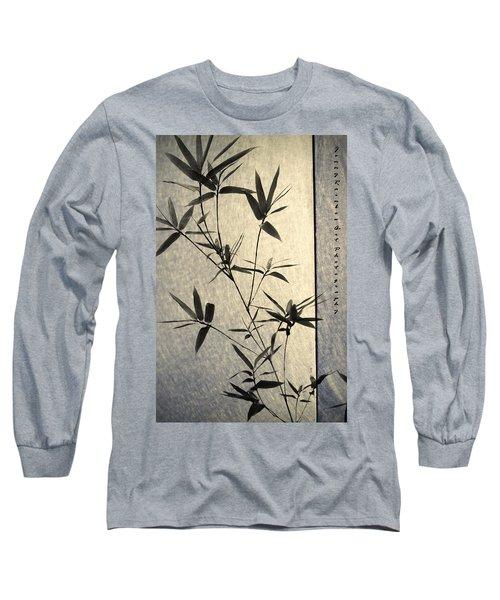 Bamboo Leaves Long Sleeve T-Shirt by Jenny Rainbow