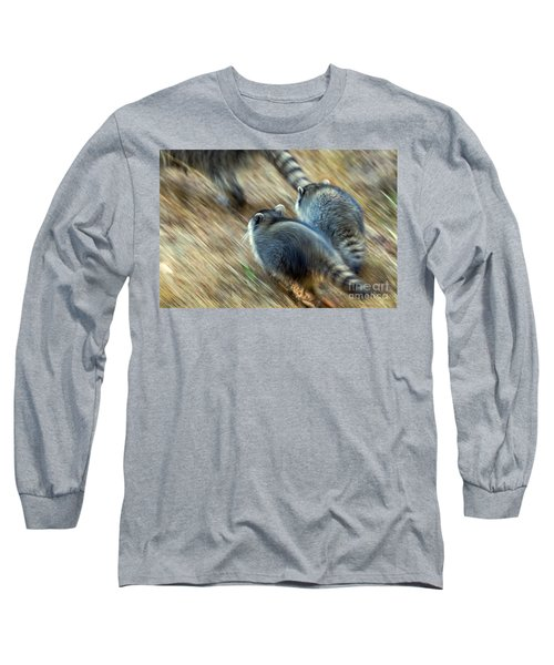 Long Sleeve T-Shirt featuring the photograph Bandits On The Run by Kate Brown