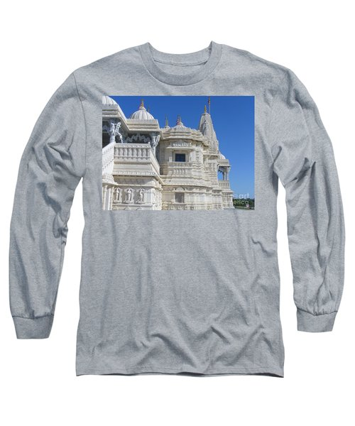 Baps Marble Mandir In Toronto Long Sleeve T-Shirt