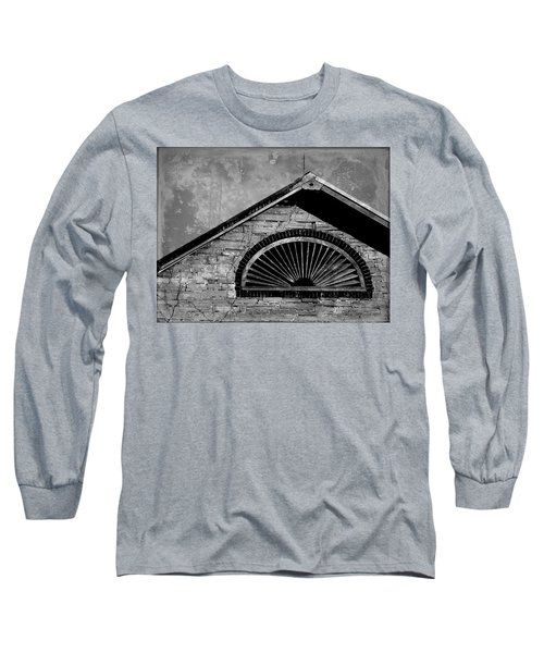 Barn Detail - Black And White Long Sleeve T-Shirt