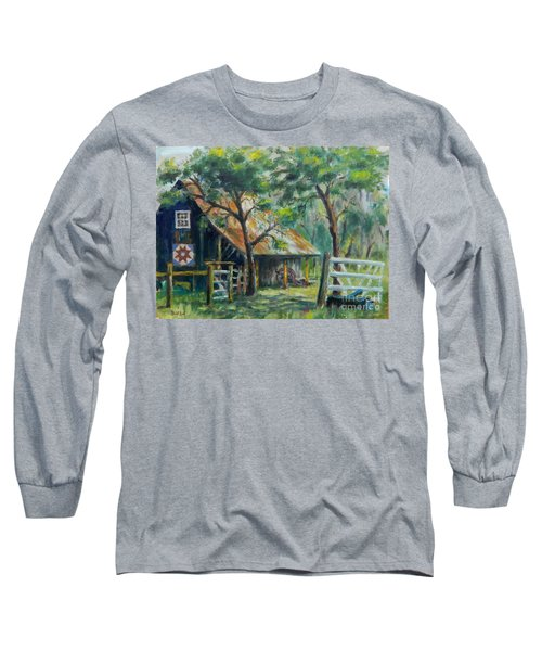 Barn Quilt Long Sleeve T-Shirt by William Reed